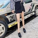 秋冬季新款女高腰不規則半身裙a字裙鹿皮絨氣質包臀裙短裙子 聖誕交換禮物