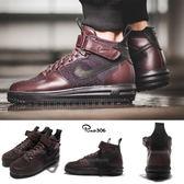 【四折特賣】Nike 靴子 Lunar Force 1 Flyknit Workboot 紅 酒紅 黑底 工作靴 男鞋【PUMP306】 855984-600