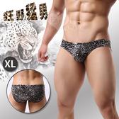 男內褲 性感內著 情趣用品 狂野猛男‧低腰激凸三角內褲-黑色豹紋﹝XL﹞【534448】