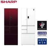 (結帳優惠+基本安裝)SHARP 502L 日製變頻六門對開冰箱 SJ-GX50ET 星鑽白/星鑽紅