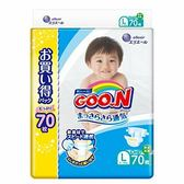 (全)【GOO.N】日本境內大王增量特規版尿布/紙尿褲(黏貼型)L70片x3包/箱[衛立兒生活館]