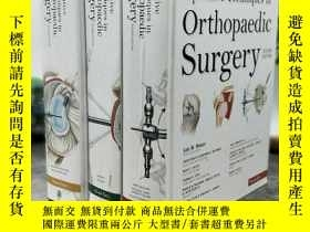 二手書博民逛書店Operative罕見Techniques in Orthopa
