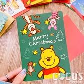 正版 迪士尼 小熊維尼 小豬 跳跳虎 聖誕節卡片 耶誕卡片 大卡片 附信封 H款 COCOS XX001