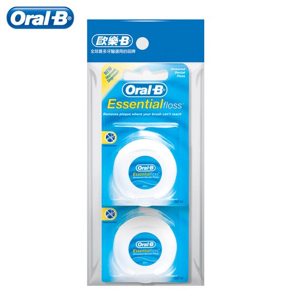 歐樂B Oral-B 無蠟 牙線50公尺 2入