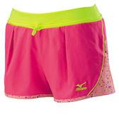 Mizuno  粉彩點點抗紫外線女運動平織短褲 32TB628166