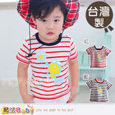 台灣製條紋針織上衣 魔法Baby