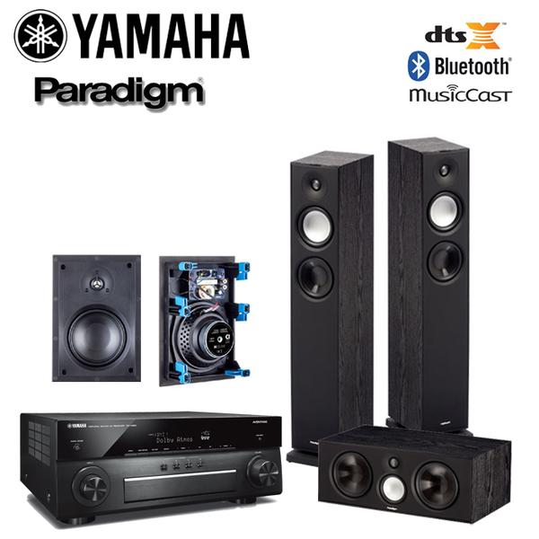 YAMAHA RX-A880 擴大機 + Paradigm Monitor 7+Center 1+H65崁入 5聲道家庭劇院組合【公司貨保固+免運】