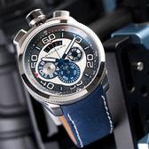BOMBERG 炸彈錶 BOLT-68 無盡之海全鋼藍面三眼計時腕錶/45mm BS45CHSS.007.3 熱賣中!