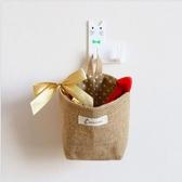 棉麻雜物袋雙面布藝墻壁掛袋收納小掛兜布袋