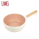 【LMG】日式捶紋雪平鍋(象牙白)22CM
