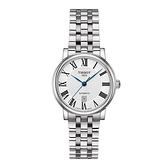 ◆TISSOT◆CARSON PREMIUM 都會品味女生機械錶T122.207.11.033.00白X銀