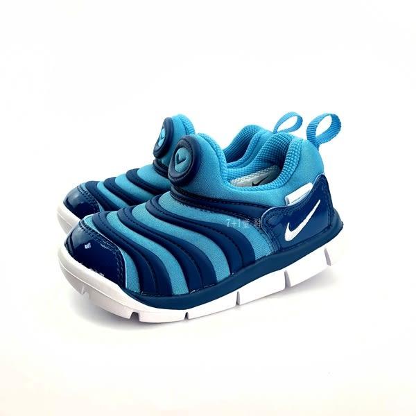 小童NIKE DYNAMO FREE輕量毛毛蟲鞋運動鞋 學步鞋 《7+1童鞋》 E869 藍色