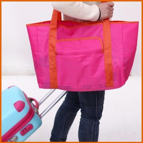 【Love Shop】韓版大號多折疊購物袋 購物包 旅行包 套裝洗漱包/大賣場必備/可收納/收納袋/收納包