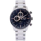 SEIKO 疾速競賽風格的計時手錶 (SSB331P1)-黑面X銀色/42mm