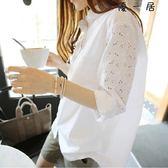 襯衫女長袖中長款女裝韓版Y-4375