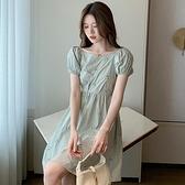 洋裝小清新裙子S-XL新款法式收腰顯瘦短裙時尚氣質小個子甜美連身裙NE326-7728.胖胖唯依