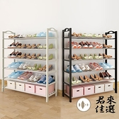 5層簡易鞋架多層防塵鐵藝架子家用室內收納鞋櫃【君來佳選】