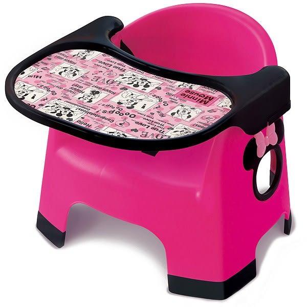 日本 迪士尼 Disney 米妮學習餐椅-桃紅 附餐墊