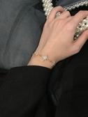 手鏈 閉眼入精致輕奢八芒星鋯石手鏈女日韓百搭可調節抽拉手鐲手飾S152