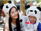 Q版可愛動物帽熊貓頭套 兒童大人成人造型帽 萬聖節聖誕節  角色扮演服裝