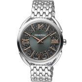 SWAROVSKI施華洛世奇Crystalline Glam腕錶 5452468 灰面x銀鋼