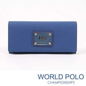世界保羅WORLD POLO深色誘惑二折式長夾/海洋藍