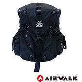 美國 AIRWALK 強勢崛起3叉扣後背包-黑底藍字