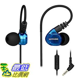 [106美國直購] ROVKING Over Ear In Ear Noise Isolating Sweatproof Sport B01H3CQ5ZG 防汗運動耳機