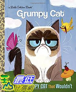 [106美國直購] 2017美國暢銷兒童書 The Little Grumpy Cat that Wouldn t (Grumpy Cat) (Little Golden Book) Hardcover
