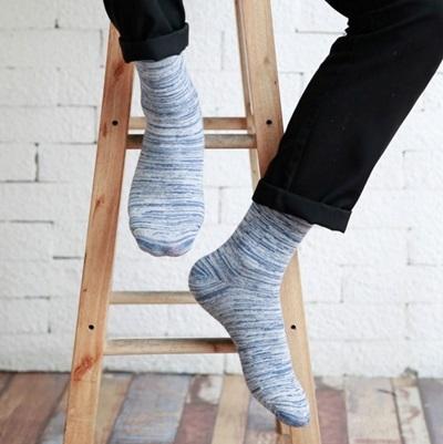 長襪禮盒(5雙裝)-冬季保暖防臭迷彩純棉男士襪子套組5色72s1【時尚巴黎】