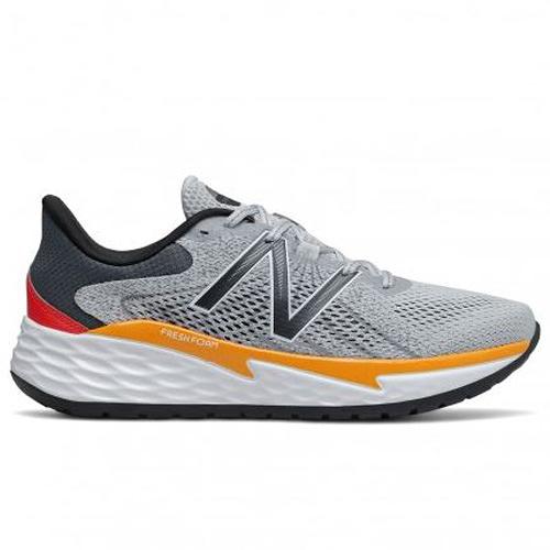 New Balance 4E 男鞋 慢跑 網布 輕量 緩震 Fresh Foam 灰 黃【運動世界】MVARELL1