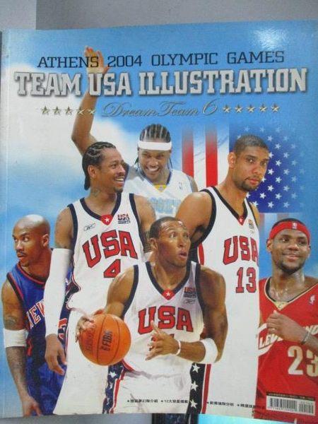 【書寶二手書T5/體育_ZHR】Team USA Illustration_2004美國男籃夢幻六隊特刊