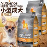 【zoo寵物商城】(送刮刮卡*2張)Nutrience紐崔斯》INFUSION天然小型成犬雞肉配方狗糧-5kg