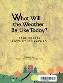二手書博民逛書店 《What Will the Weather Be Like Today?》 R2Y ISBN:0590450131│Scholastic Incorporated
