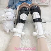 秋冬百搭加厚女襪Lolita針織可愛毛球堆堆襪日系學生jk純色中筒襪 - 小衣里大購物