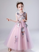 女童禮服兒童禮服女裙子夏款洋氣女童公主裙高端蓬蓬紗長裙超仙連衣裙夏裝 嬡孕哺