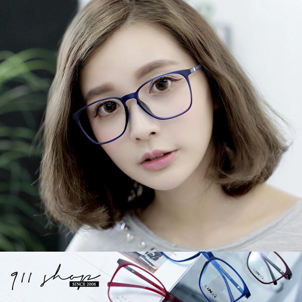 Leisure.TR90塑膠鈦多彩輕透方框光學配鏡框眼鏡【p691】*911 SHOP*