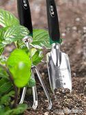 藤原園藝鏟家用多肉養花種花工具套裝不銹鋼翻挖土耙子加厚小鏟子     琉璃美衣