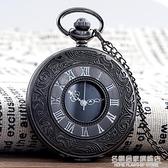 正品創意復古翻蓋羅馬電子懷錶男女學生項錬掛錶簡約項錬錶 名購居家