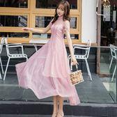 水藍水粉大裙擺宴會約會連身裙洋裝 [98791-QF]小三衣藏