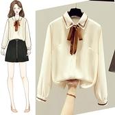 春裝2021年新款秋春款女士雪紡白襯衫女裝正裝職業裝襯衣時尚上衣3 幸福第一站