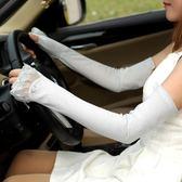 防曬手套女士春夏開車防紫外線UV蕾絲優雅分指手套      琉璃美衣