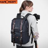 數碼相機包雙肩佳能尼康索尼單反包復古潮防水背包專業微單攝影包【快速出貨】