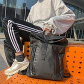 雙肩包新款潮牌雙肩包男時尚潮流尼龍大容量旅行包防水休閒背包男士書包 摩可美家