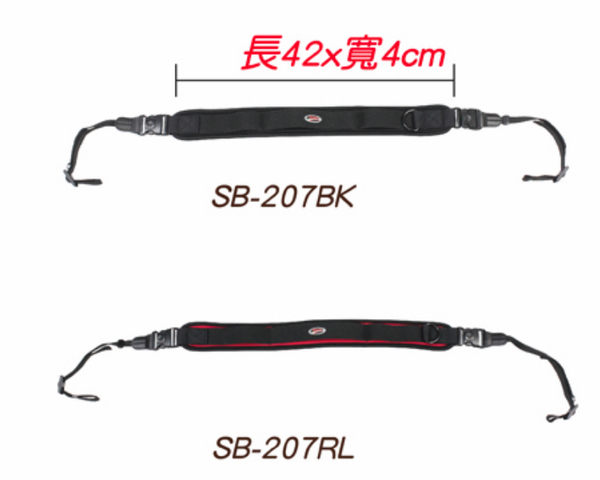 【亞洲數位商城】JENOVA 吉尼佛 SB-207 減壓相機肩帶