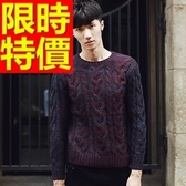 長袖毛衣-美麗諾羊毛日系防寒套頭男針織衫3色63t55【巴黎精品】