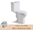 【麗室衛浴】美國KARAT 雙體馬桶 K-2890 奈潔釉面 金級省水 附緩降馬桶蓋
