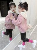 童裝外套女童短款外套秋冬裝2018新款童裝羊羔絨韓版兒童女孩加厚洋氣上衣
