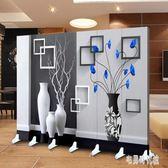 美容院屏風時尚推拉歐式客廳可移動折疊隔斷雙面定制現代簡約3D DJ10185【宅男時代城】