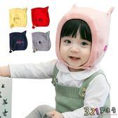 寶寶帽子嬰兒加絨毛線帽-可愛貓咪耳朵造型保暖護耳帽-321寶貝屋